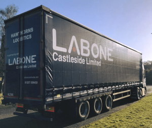new tralier supplied by new logistics partner hawthorns logistics