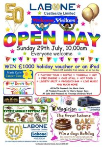 Labone castleside 50th anniversary open day 29th July 2018
