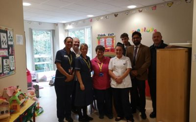 Treetops Ward Gratefully Receive Cheque From Labone Fundraising Effort